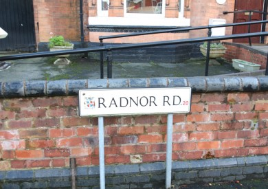 Radnor Road Road Sign